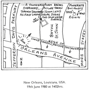 Memories: A Thunderstorm Begins In New Orleans (map)
