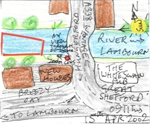 River Lambourn, Great Shefford (map)