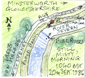The Severn Bore on a Misty Morning at Minsterworth (map)