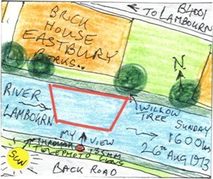 The River Lambourn at Eastbury IV (map)