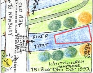 The River Test at Whitchurch II (map)