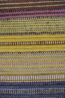 Experiments in Wool Combinations and Permutations on 'Dryad' Craft Loom (click here for more details)